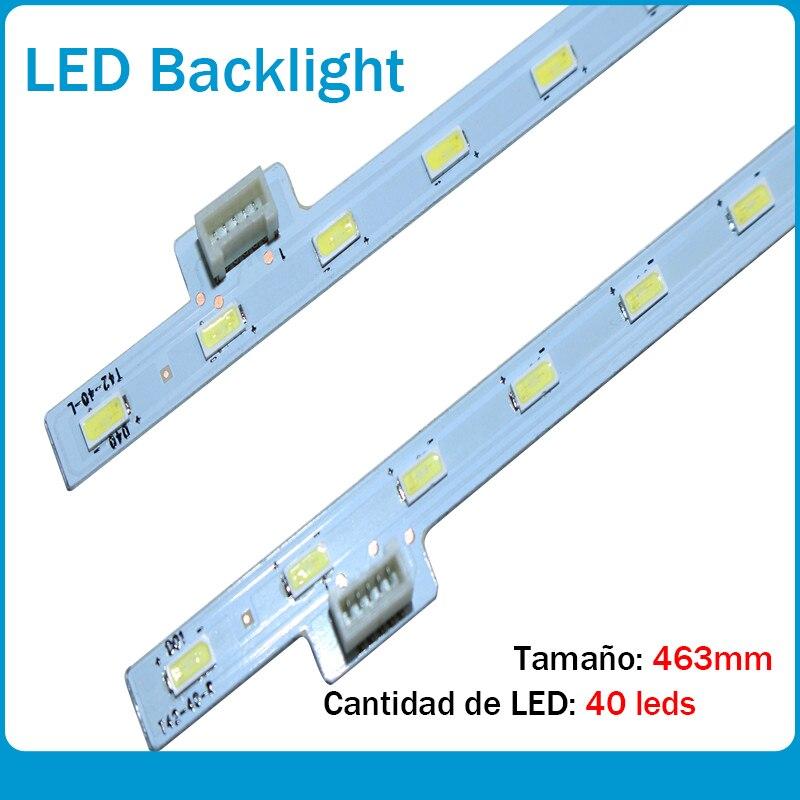 New Kit 2 Pieces/lot 40LED 463MM LED Strip For KDL-42W650A 74.42T35.001-0-DX1 74.42T31.002-0-DX1 13510N T42-40-R L