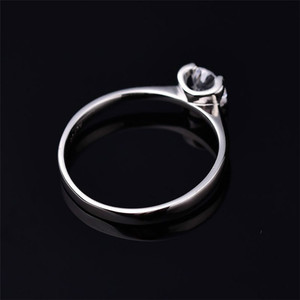 Image 3 - Moissanite Rings for Women D color 0.5ct 2ct Super Flash Engagement Rings Classic S925 Sterling Silver Ring Femlae Fine Jewelry