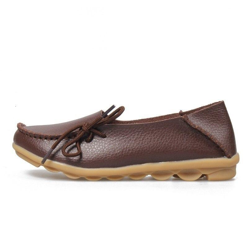 VIGOR/Женская обувь на плоской подошве; сезон весна; Женская Осенняя обувь из натуральной кожи; оксфорды; мокасины из натуральной кожи на плоской подошве; S80 - Цвет: Коричневый