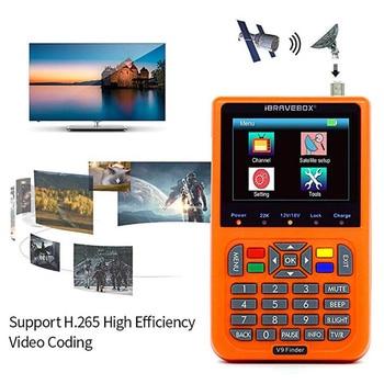 """iBRAVEBOX V9 Finder  Satellite Finder DVB S2 Digital H.265 Full 1080P FTA 3.5"""" LCD Built-in 3000mAh Battery Sat Finder Meter"""