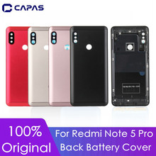 Original For Xiaomi Redmi Note 5 Pro Back Cover + Camera Glass + Side Keys For Redmi Note 5 Pro Rear Housing Door Replacement(China)