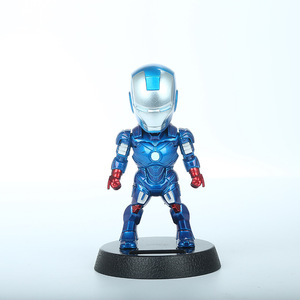 Image 5 - 2017 Q Versie Action Figure Superheld Iron Man Black Panther Pvc Figuur Zonne energie Schudden Hoofd Speelgoed 12Cm Chritmas gift Speelgoed