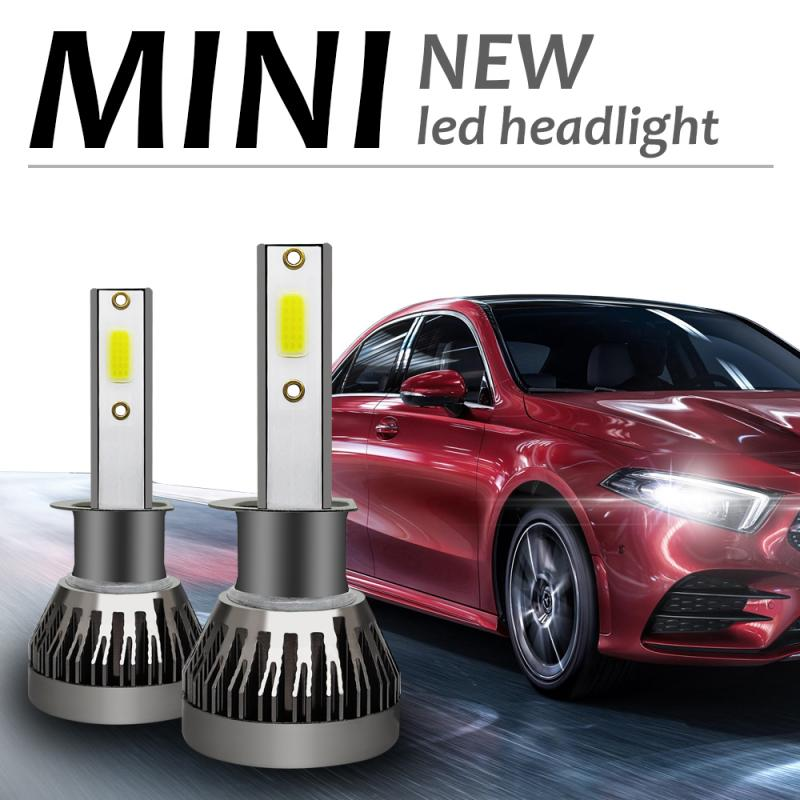 H1 Car LED Headlight Bulbs H1 H4 H7 H11 9005 9006 90W 12000LM 6000K Car Auto Mini Headlamp COB Fog Light 12V Car Accessories