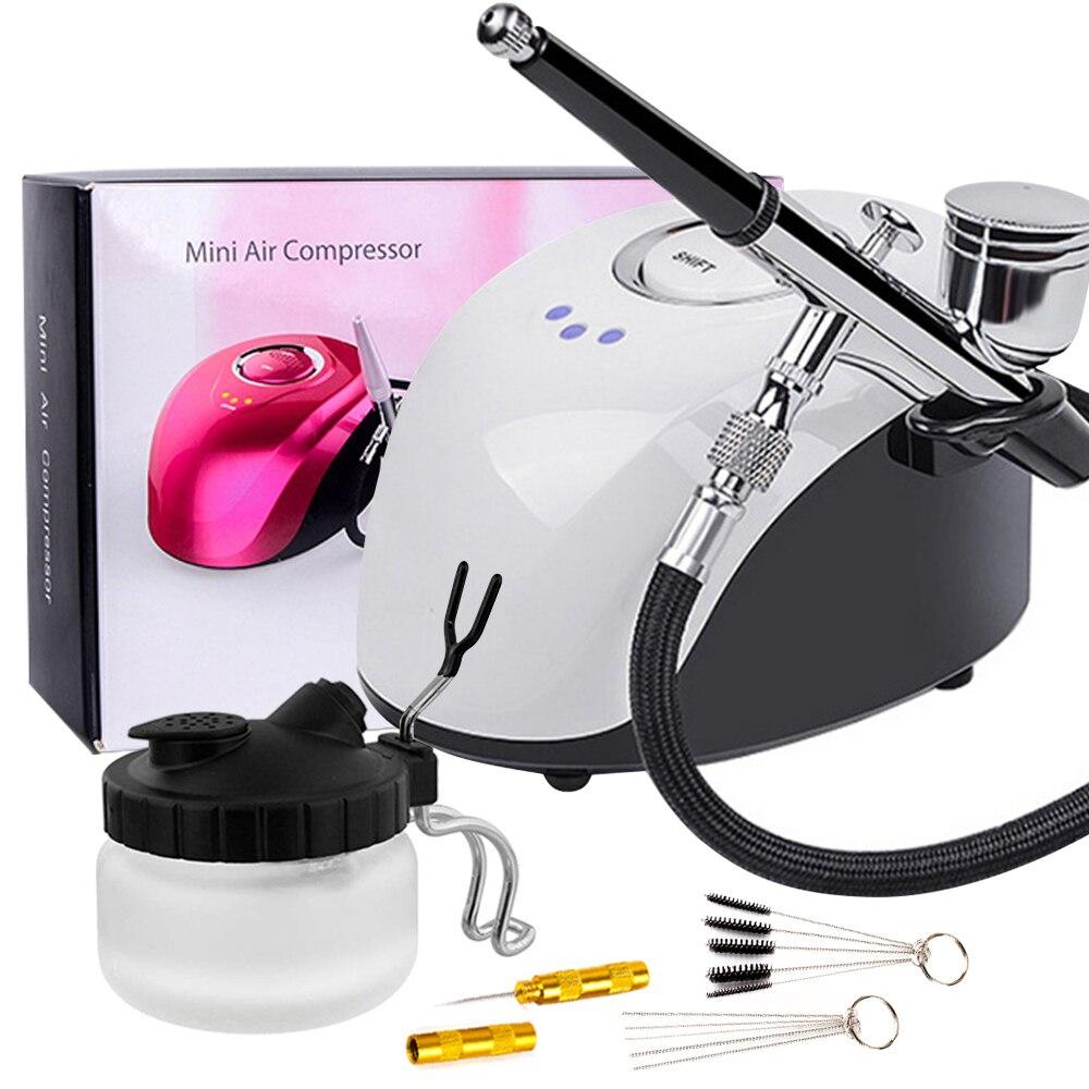 0,2/0,3/0,4 мм Набор Аэрограф с двойным действием компрессора с воздушной кистью Краскораспылитель для нейл арта макияж Air Brush|Пистолеты-распылители|   | АлиЭкспресс