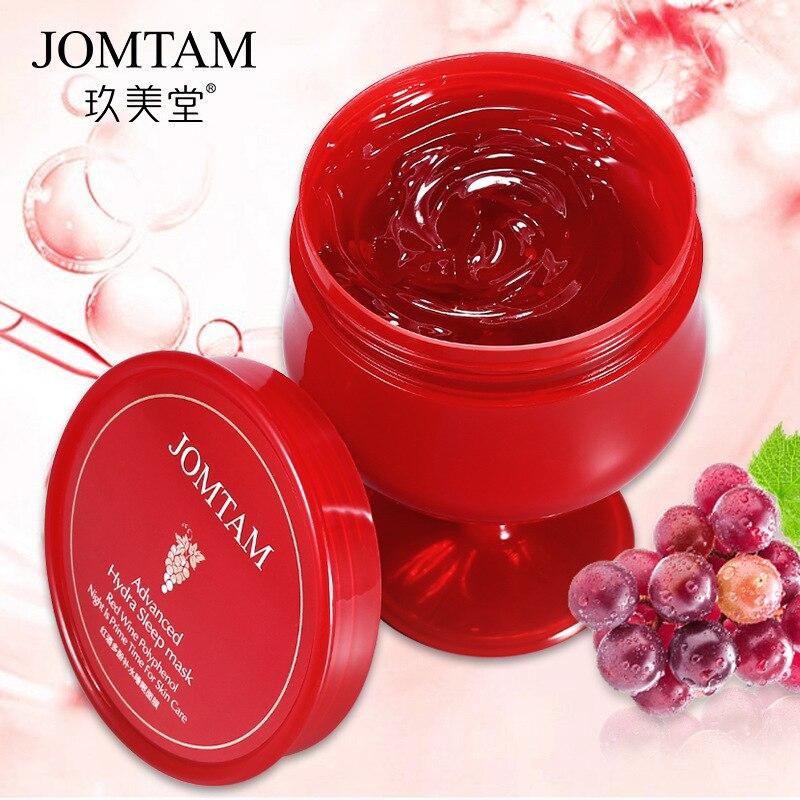 Red Wine Essence Facial Mask 150g Whitening Cream Moisturizing Night Cream Anti Aging Brighten Face Sleeping Mask