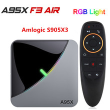 A95X F3 Air 8K RGB Light TV Box Amlogic S905X3 Android 9.0 4