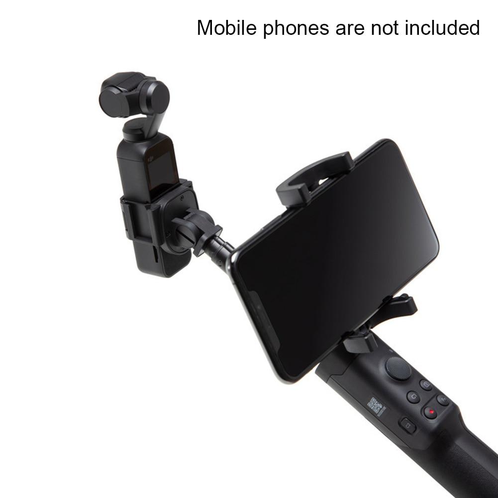 Support pour téléphone Portable à tige d'extension d'appareil photo stabilisateur Simple pôle 1/4 Portable extensible extérieur Rechargeable pour poche OSMO