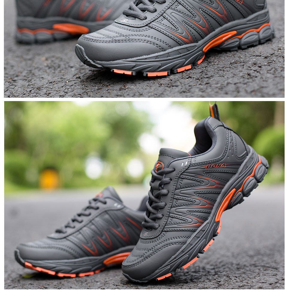 H1e92a51f6e964e8eaa28ceffe2134059F BONA 2019 New Designers Casual Shoes Men Style Cow Split Sneakers Male Lightweight Outdoor Fashion Footwear Man Trendy Comfy