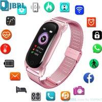 Reloj inteligente deportivo para hombre y mujer, pulsera resistente al agua para Android e IOS