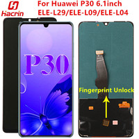 OLED Screen For Huawei P30 Display Screen Tested Lcd Display+Touch Screen With Fingerprint Unlock For Huawei P30 ELE L29 L09 L04