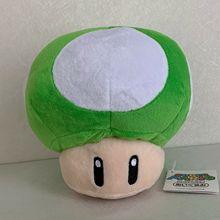 """Super Mario Bros. 1-UP зеленый гриб плюшевая мягкая игрушка кукла Тедди 6,5"""""""