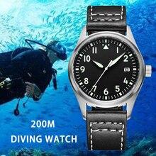 ADDIES Fully Automatic Mechanical Men Watch 200m Waterproof Stainless Steel Belt