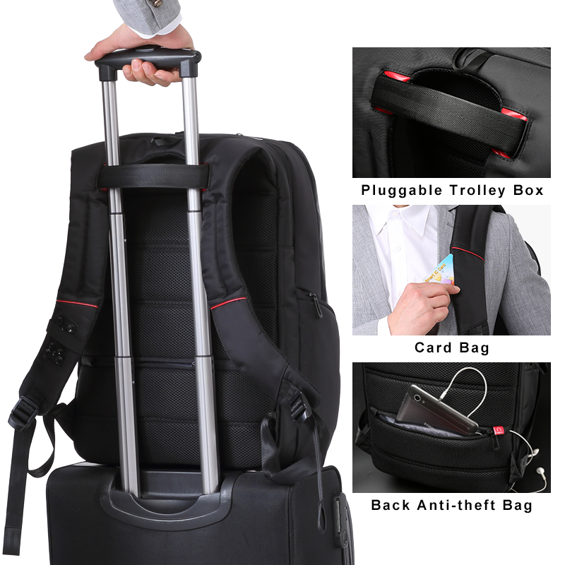 Image 4 - KINGSONS Wear resistant Men Women Fashion Backpacks for Business  Trip School Bags 13 15 17 Inches Laptop Backpack 2019 NEW  SELLBackpacks