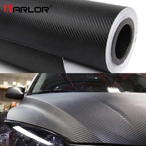 Image 1 - 200センチメートル * 30センチメートル3D炭素繊維ビニールフィルム3メートルの車のステッカー防水diyオートバイ自動車のカースタイリングラップロールアクセサリー