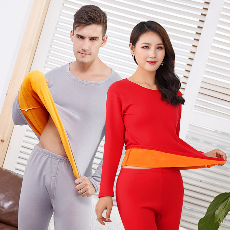 Thick Warm Winter Thermal Underwear For Men Women Thermo Clothing Velvet Female Winter Pajamas Set Thermal Suit Male Long Johns