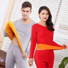 Épais chaud hiver sous-vêtement thermique pour hommes femmes Thermo vêtements velours femme hiver pyjamas ensemble thermique costume mâle Long Johns(China)