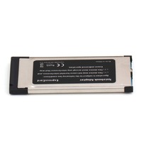34 High Full Speed Express Card Expresscard to USB 3.0 2 Port Adapter 34 mm Express Card Converter 5Gbps Transfer rate (2)