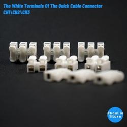 Ch1 \ ch2 \ ch3 terminais brancos de conector de cabo rápido