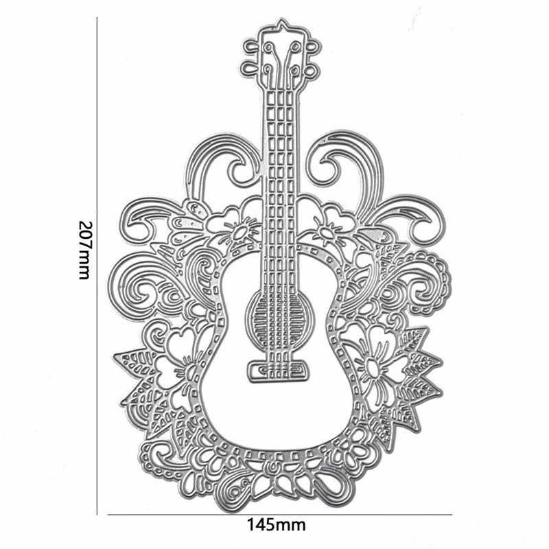 GJCrafts koronki kwiat krawędzi gitara Metal wykrojniki Scrapbooking tworzenie kartek szablon do wytłaczania Die Cut nowy 2019 Craft umiera Decor