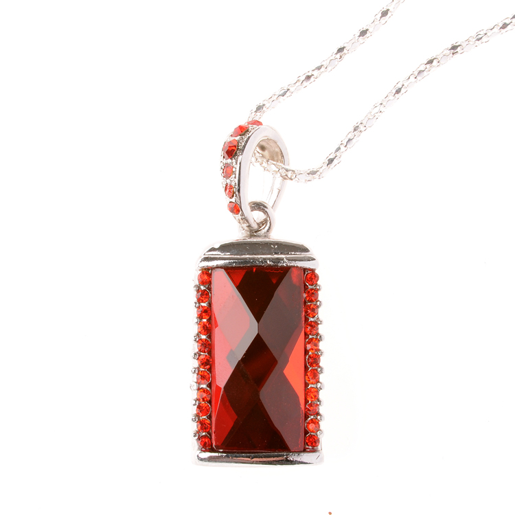 Red Jewelry Necklace Pendrive <font><b>512</b></font> GB <font><b>Usb</b></font> <font><b>Flash</b></font> <font><b>Drive</b></font> 64GB Pen <font><b>Drive</b></font> 1TB 2TB Memoria <font><b>Usb</b></font> Stick Memory Card Disk Disk On Key 128GB image