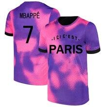 MBAPPE Messi  PSG Ligue Patch  NEYMAR  Summer  Men Large size Soccer Jersey Adult Football Shirt Children