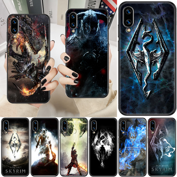 Skyrim Game Phone case For Huawei Honor 6 7 8 9 10 10i 20 A C X Lite Pro Play black silicone bumper art funda tpu coque fashion image