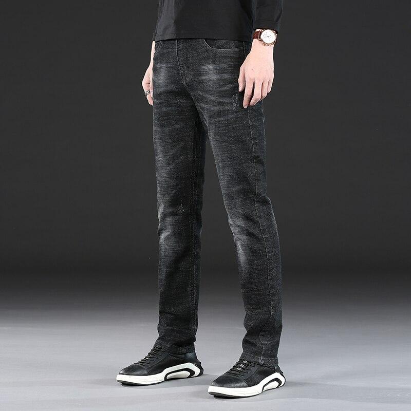 Jeans Men Jean Homme Skinny Denim Spijkerbroeken Heren Black Mens Pants Biker Stretch Slim Fit Fashion Men'S Trousers Designer