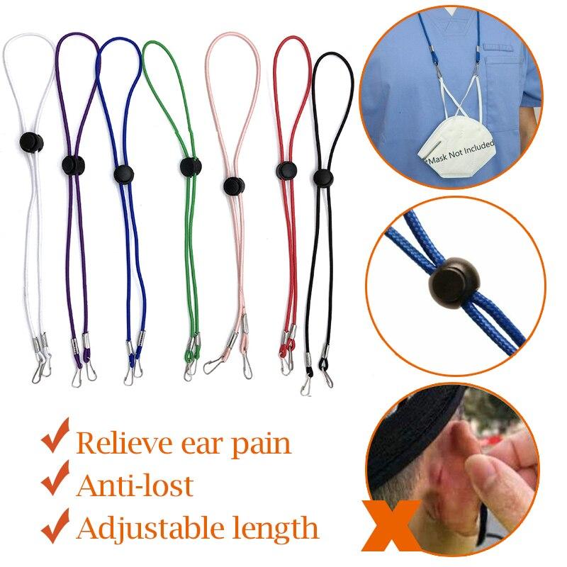 Adjustable Mask Sew Elastic Band Cord Buckle Stretchy Mask Earloop Lanyard Earmuff Rope Ear Extender Ribbons cuelga mascarillas(China)