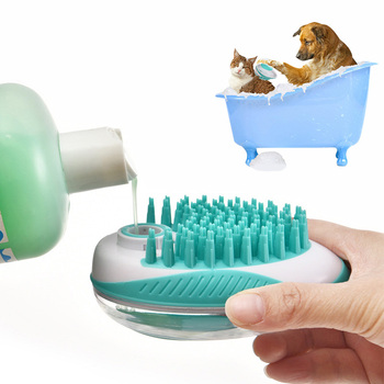 HOOPET Pet Dog Bath Brush Comb Pet SPA Massage Brush Soft Silicone Cats Shower Hair Grooming Comb Dog Cleaning Tool Pet Suppies pet grooming pet beauty grooming tool comb brush dog hair promote blood circulation pet grooming dog hair brush dog comb