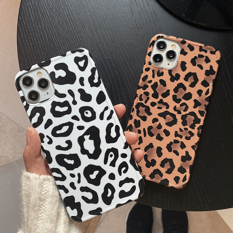 <font><b>Sexy</b></font> Leopard grain matte silicone <font><b>case</b></font> For <font><b>iphone</b></font> 11 pro XS MAX X XR SE2 <font><b>7</b></font> 8 <font><b>plus</b></font> shockproof Anti-skid imd soft cover Coque capa image