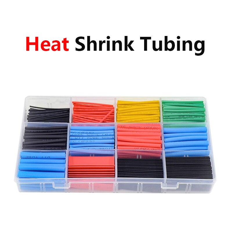 530-800 szt. Termokurczliwe rurki termokurczliwe różne rękawy izolacyjne z drutu, termoresistant tube zestaw termokurczliwy