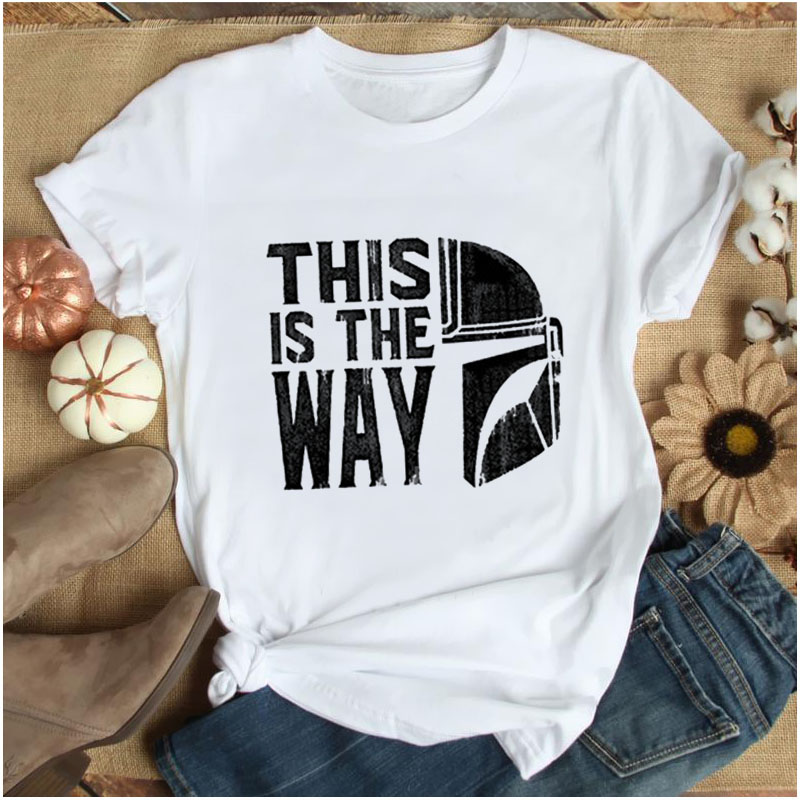 Women Baddie Clothes Casual Tops Harajuku Tees Female T Shirts Clothing Female T-shirt Summer Baby Yoda Mandalorian T Shirt image