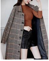 tweed Formal Wool casual Blazer Women 2019 Winter Thicken Jackets ladies plus size Female long Suits Coat business blazer S0078