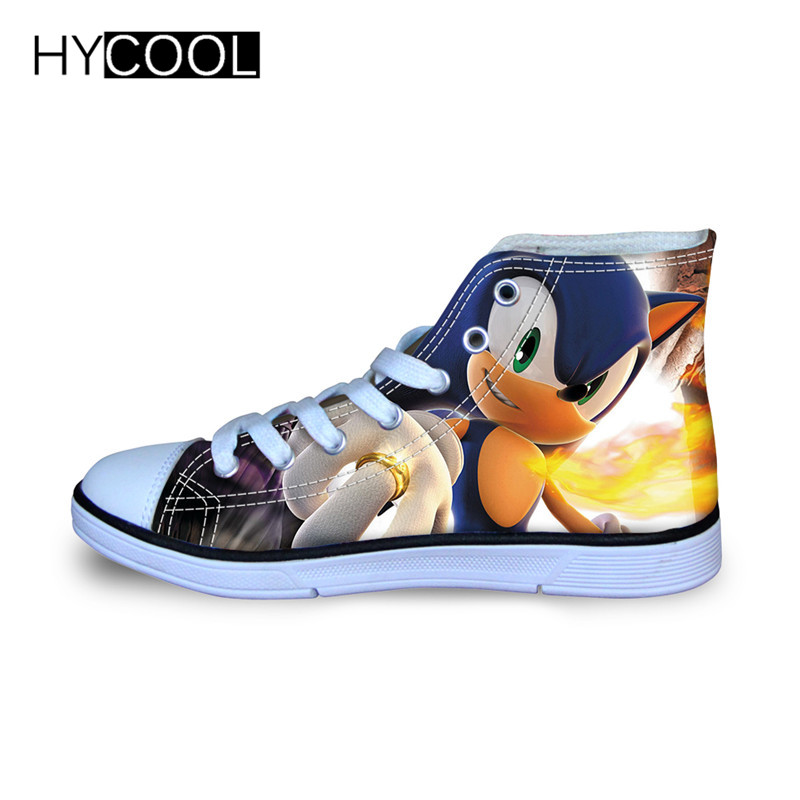 Image 2 - HYCOOL Children Running Shoes For Kids Boys Sonic the hedgehog Sneakers Outdoor Sports Shoes High Top Canvas Shoes Toddler ChildWalking Shoes   -