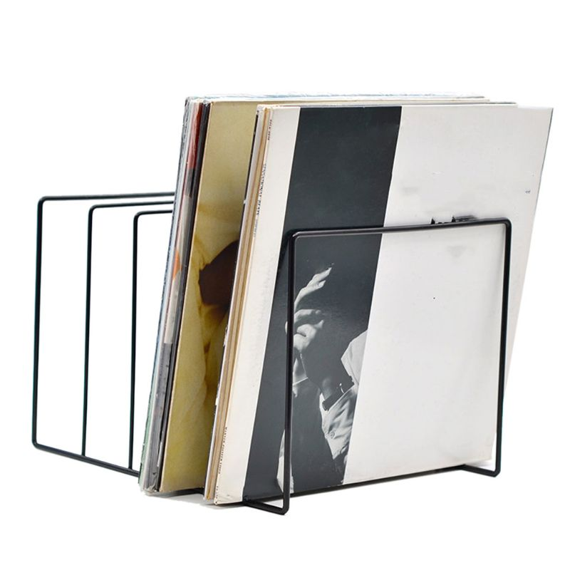 Metal LP Vinyl Record Display Shelf Turntable Storage Shelf Exhibit Stand Holder E5BA