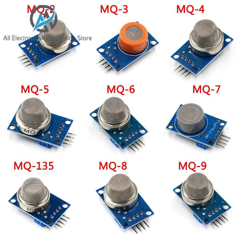 MQ-2 MQ-3 MQ-4 MQ-5 MQ-6 MQ-7 MQ-8 MQ-9 MQ-135 Detection Smoke Methane Liquefied Gas Sensor Module For Arduino Starter DIY Kit