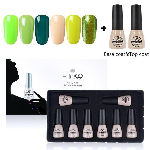 Elite99 8 teile/satz 7ml Gel Nagellack Mit Geschenk Box Tränken Weg Farbe Serie UV Gel Nagellack Kit nagel Kunst Dekoration Maniküre Set