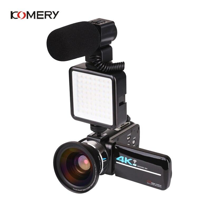 KOMERY nouveautés 4K 48MP caméra vidéo 3.0 en HD écran tactile/Vision nocturne/Wifi Microphone externe/Flash/sortie HDMI/infrarouge - 3