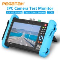 H.265 IPC Tester CCTV tester for CCTV Video Camera tester monitor 4K 7 inch 1920*1200 Built in wifi TDR cable POE HDMI ONVIF 8GB