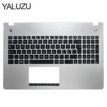 חדש חדש מחשב נייד מקלדת לוח עבור ASUS N56 N56V N56VM N56VZ N56SL כסף Topcase Palmrest מקרה עליון C פגז תאורה אחורית