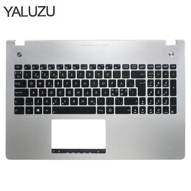 New new laptop keyboard bezel for ASUS X501U N56 N56V N56VM N56VZ N56SL Silver Topcase Palmrest upper case C shell backlight