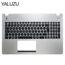 Novo novo teclado do portátil moldura para asus n56 n56v n56vm n56vz n56sl prata topcase palmrest caso superior c escudo luz de fundo