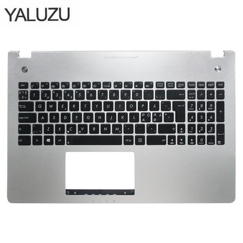 New Laptop Keyboard Bezel For ASUS X501U N56 N56V N56VM N56VZ N56SL Silver Topcase Palmrest Upper Case C Shell Backlight