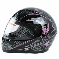 Motorcycle Adult Helmet Flip Up Carbon Fiber Pink Black Butterfly Full Face Street Bike Sport Helmets Motocross S M L XL DOT 6