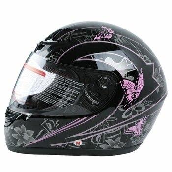 DOT Adult Pink Black Butterfly Helmet Motorcycle Street Full Face Sport Race Helmets S M L XL XXL 1