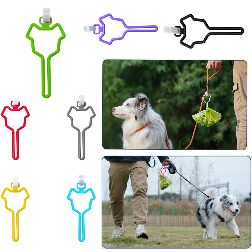 Waste Bag Dispenser for Dog Waste Carrier Pet Supply Accessories Dog  Leash Dispenser Clean Tools Poop Bag Holder Hands Free