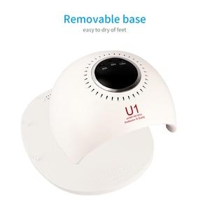 Image 2 - 84W 스마트 UV LED 네일 건조기 램프 5S 빠른 건조 42PCS LED 손톱 젤 폴란드어 치료 램프 매니큐어 기계 Timmer 디스플레이