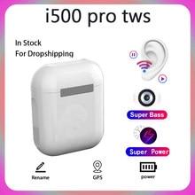 Original i500 pro tws blutooth fone de ouvido sem fio fones estéreo esporte auriculares gps pk i20 i30 i60 super