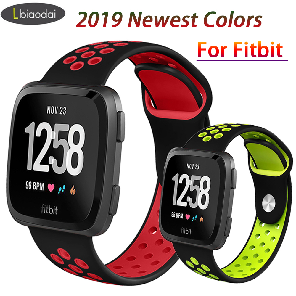 Lbiaodai Sport Band For Fitbit Versa Strap Silicone Correa Wrist Replacement Bracelet  Belt For Fitbit Smart Watch Accessories