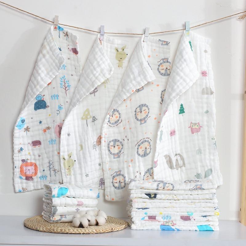 25cm*50cm Muslin Cotton Baby Towels Scarf Swaddle Bath Towel Newborns Handkerchief Bathing Feeding Face Washcloth Wipe